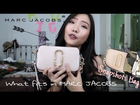 what fits in MARC JACOBS snapshots bag [INDO]