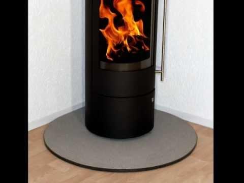 Premium Kaminbodenplatte / Funkenschutzplatte für Kaminöfen