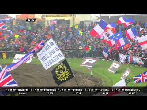 Herlings crashes in race 2 and Febvre passed him - Monster Energy FIM MXoN Presented