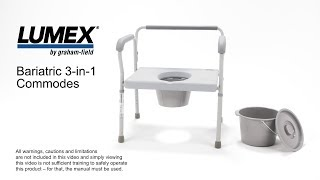 Lumex® Bariatric 3-in-1 Commodes Youtube Video Link