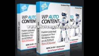 WP AutoContent – Fresh Content From 24 Authority Sources on AUTOPILOT