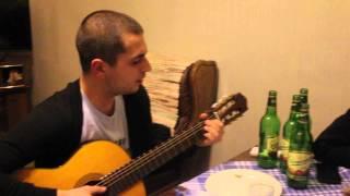 Девчонка  Devchonka  Постой Паровоз  Postoy Parovoz  игра на гитаре  песни о любви