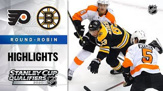 NHL Highlights | Flyers @ Bruins, Round-Robin - Aug. 2, 2020