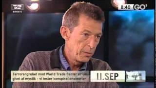 Tommy Hansen og Ole Retsbo debatterer 11. september 2001 på Go'morgen Danmark på TV2