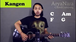 Chord Gampang (Kangen - Dewa 19) By Arya Nara (Tutorial Gitar) Untuk Pemula