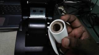 How to Install Paper into Thermal Receipt Printer POS Printer