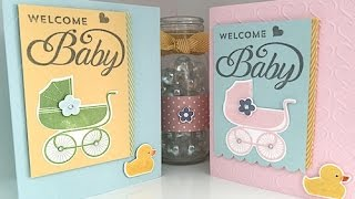 Simply Simple FLASH CARD - Welcome Baby Card by Connie Stewart
