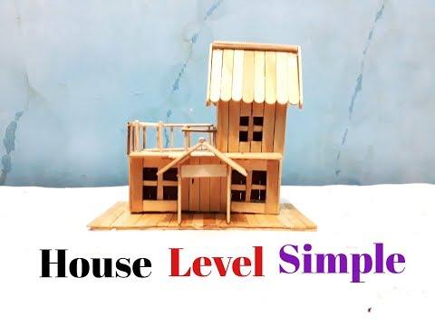 Membuat Miniatur Rumah Tingkat Sederhana Dari Stik Es Krim Top