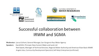 Successful collaboration between IRWM and SGMA