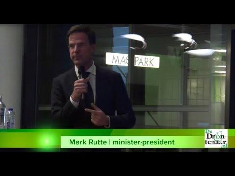Mark Rutte komt net als twee jaar geleden naar Aeres Hogeschool in Dronten
