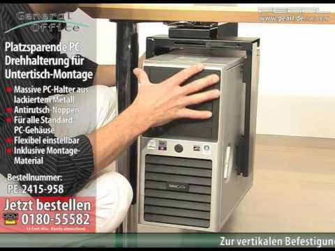 General Office Platzsparende PC-Drehhalterung für Untertisch-Montage