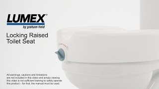 Lumex Locking Raised Toilet Seat Youtube Video Link