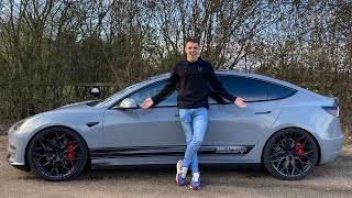 This Modified Tesla Sounds Like A Lamborghini!