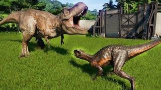 INDORAPTOR MAX Vs I-REX,T-REX,SPINOSAURUS,GIGANOTOSAURUS,ALLOSAURUS - Jurassic World Evolution