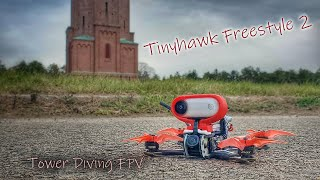 Tower diving FPV- Tinyhawk Freestyle 2