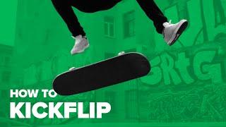 Как сделать кикфлип на скейте (How to Kickflip on a skateboard)