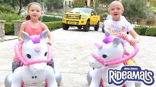Ultimate Unicorn Race!!! Meet Josie The Rideamals Unicorn Ride On Toy!!