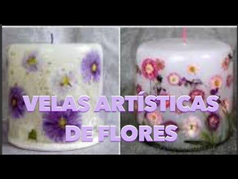 Velas com Flores