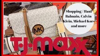 Shopping At Tj Maxx And Found Balmain, Calvin Klein, Michael Kors, And Dkny Bags For Cheap