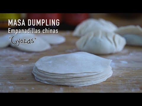 Como hacer Pasta para Gyoza, Empanadillas Chinas y Dumplings asiáticos
