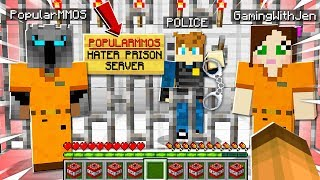 I Joined A POPULARMMOS & GAMINGWITHJEN HATER PRISON Server And HELPED A FAN ESCAPE!