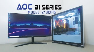 AOC B1 Series 24 inches Monitor. Model: 24B1XHS   Review with Game Testing in PUBG