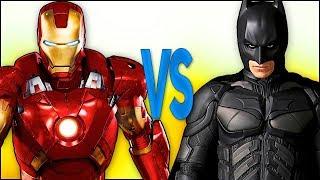 БЭТМЕН VS ЖЕЛЕЗНЫЙ ЧЕЛОВЕК   СУПЕР РЭП БИТВА   Batman justice league ПРОТИВ Iron Man avengers movie