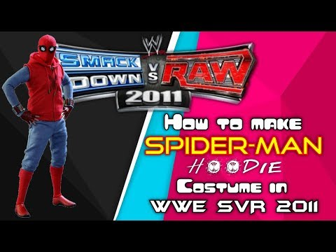 Download How to make Spider-man hoodie costume in WWE SVR 2011 | MarcusDamon#gaming videos HD Mp4 3GP Video and MP3