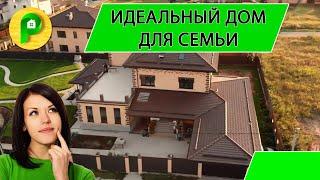 Обзор двухэтажного кирпичного дома в современном стиле, строительство домов под ключ