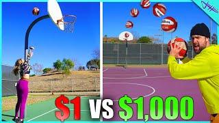 $1 vs $1000 TRICKSHOT CHALLENGE! Ft. Jenna Bandy, Caleb Feemster