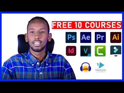 Free 10 courses || barashada video Editing  & graphic design