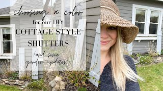 DIY Cottage Style Shutters - Choosing A Color!