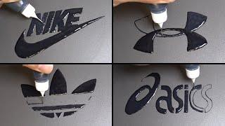 Sports Brand Logo Pancake art - NIKE, UNDER ARMOUR, Adidas, Asics