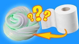 Слаймы из туалетной бумаги | Проверяем рецепты