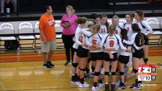 September 24, 2018 Tahlequah Tiger volleyball vs the Tulsa East Central Cardinals