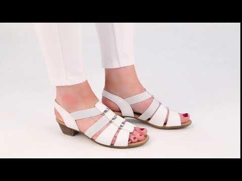 Gabor Joan White Leather Womens Modern Sandals