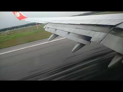 Landing at KL Airport, Malaysia