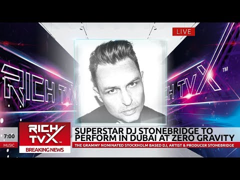 Superstar DJ StoneBridge to perform in Dubai at Zero Gravity