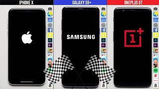Samsung Galaxy S9+ vs. Apple iPhone X vs. OnePlus 5T Speed Test