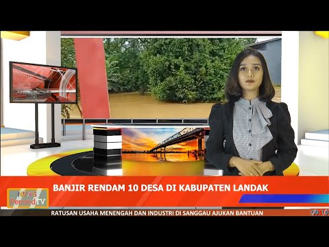 Akibat Curah Hujan yang Tinggi, Banjir Rendam 10 Desa di Landak