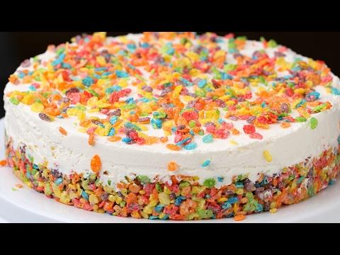 Rainbow Cereal Cheesecake