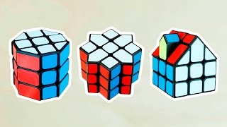 HACIENDO 3 MODS FÁCILES del CUBO DE RUBIK sólo combinando piezas!