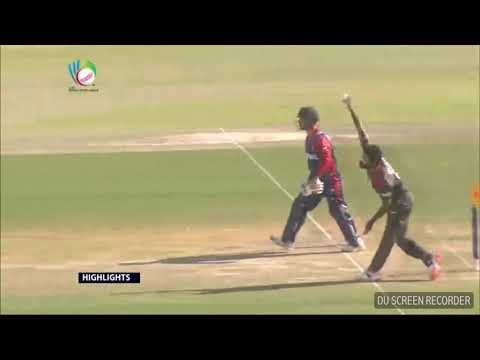 Highlights: Nepal's 1st Innings against UAE – ICC WCL Championship