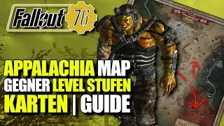 Die Map Gebiete | Gegner Level Stufen | Appalachia | Fallout 76