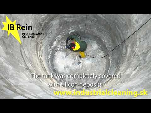 Cleaning of chemically contaminated tanks and reservoirs
