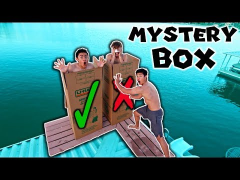 DONT Push The Wrong MYSTERY BOX OFF The 12 FOOT DOCK! (INTO WATER)