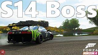 Forza Horizon 4: S14 Rocket Bunny Boss Kit, FULL DRIFT BUILD w/ Twin Turbo V8 Swap! 1,000+ HP