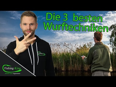 Angel auswerfen - wie geht's? | Die 3 besten Wurftechniken!! | www.fishing-king.de