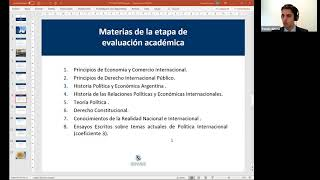 """Charlas académicas para estudiantes: """"El Instituto del Servicio Exterior de la Nación"""""""