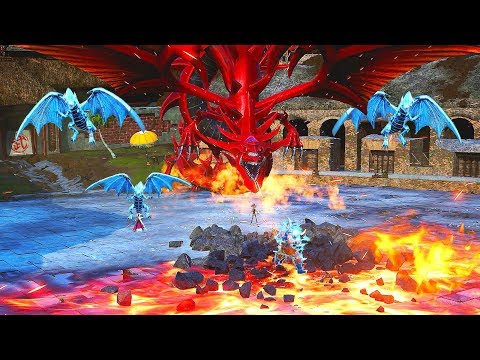 JUMP FORCE - Ultra Instinct Goku vs Yugi & Kaiba's Legendary Egyptian Gods